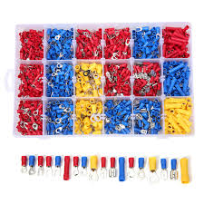 Best Price <b>1200 Pcs</b> Mixed Assorted Lug Kit Insulated Electrical Wire ...
