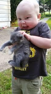 PsBattle: Evil child with kitten : photoshopbattles via Relatably.com