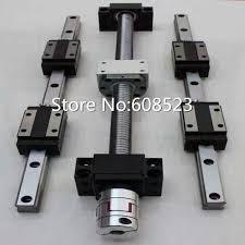 new HBH20 Linear rails <b>cnc Ball Screw set</b> DFU1605 L306.5/496.5 ...