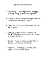 steps for writing an essay pre writing  gathering material doing  steps for writing an essay pre writing  gathering material doing your thinking