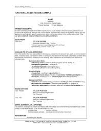 resume examples  skills for resume examples resume templates  good    functional skills resume example for career objective   education and highlights of qualifications