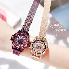 Ready Stock 360°Rotating <b>Magnetic</b> Starry Women Quartz Watch ...