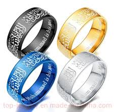 Handwear Muslim Islamic <b>Jewelry</b> Halal <b>Ring</b> Lovers <b>Titanium Steel</b> ...
