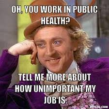 DIYLOL - Oh, you work in public health? Tell me more about how ... via Relatably.com