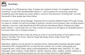 how to write a professional bio for your social media profiles krista canfield linkedin summary