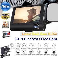Aominuo DLNEW 4'' HD 1080P <b>3 Lens Car</b> DVR <b>Dash</b> Cam <b>Vehicle</b> ...