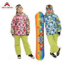 2019 <b>Wild Snow Boys Girls</b> Ski Sets Winter Waterproof Windproof ...