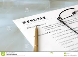 resume on the table royalty stock image image  resume on the table