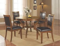 The Nelms Casual Brown Walnut <b>Five</b>-<b>Piece Dining</b> Set available at ...