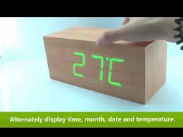 How to Use <b>Wooden LED</b> Digital Alarm Calendar Desk Clock ...