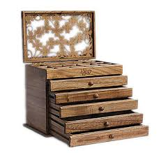 Clover <b>real wood jewelry box</b> retro style large multilayer marriage ...