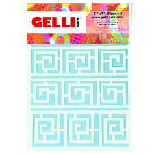NEW Roundabout Stencil - Designed to print with 5x7 Gelli Arts ...