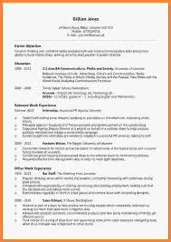 undergraduate cv example invoice example  related for 6 undergraduate cv example