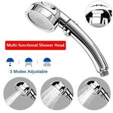 360 Degrees Rotating Shower Head Adjustable <b>Water</b> Saving <b>3</b> ...