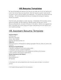 resume for human resources assistant samples of resumes hr sample resume getblownco dkm
