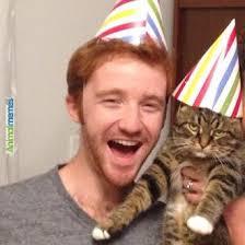 Cat Memes - thrilled cat on his birthday - AnimalMemes.com via Relatably.com