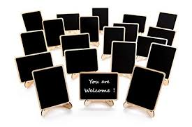20 Pack Wood Mini Chalkboards Signs with Support ... - Amazon.com