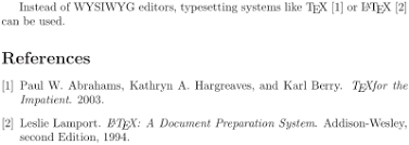 LaTeX Bibliography Management   Wikibooks  open books for an open