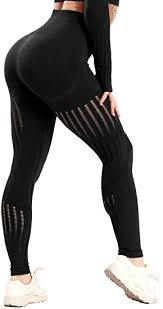 RIOJOY <b>Womens</b> Yoga Pants <b>Hollow Out</b> High Waist Leggings ...