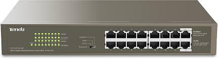 Tenda TEG1116P-<b>16</b>-150W 1000M&PoE <b>16</b>-<b>Port</b> Gigabit <b>Ethernet</b> ...