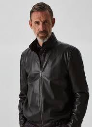 <b>Faux</b>-<b>leather</b> jacket with raised <b>collar</b> - Coats & Jackets | Adolfo ...