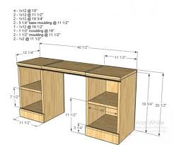 ana white plans for a little vanitydesk to complete the underside of the loft bed ana white completed eco office desk