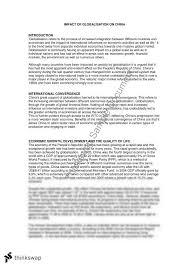 globalisation essay   china   year  hsc   economics   thinkswapglobalisation essay   china