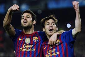 Fabregas akui belum sebanding dengan Messi