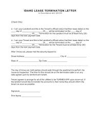 idaho termination lease termination letter form day notice idaho termination lease termination letter form 30 day notice fillable forms