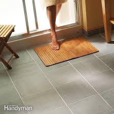 ceramic tile for bathroom floors: install a ceramic tile floor in the bathroom
