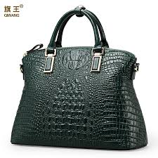 Qiwang Authentic <b>Women</b> Crocodile Bag <b>100</b>% <b>Genuine Leather</b> ...