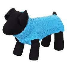 <b>Свитер для собак RUKKA</b> Wooly Knitwear размер S голубой 31см ...