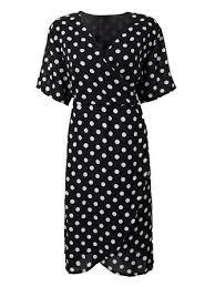 <b>plus size 5xl sexy</b> polka dot v neck high waist women chiffon dress ...