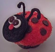 Image result for ladybug cupcakes using oreos