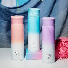 <b>Gradient Color 500ML</b> 304 Stainless Steel <b>Vacuum Flask Thermos</b> ...