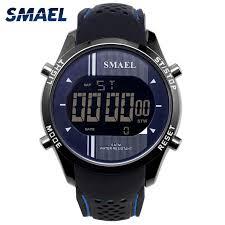 Digital Wristwatches Silicone <b>SMAEL Watch Men Waterproof</b> LED ...