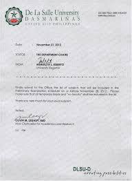 dlsu d university registrar announcement and news memo for department chairs