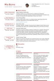 public relations resume samples   visualcv resume samples databasepublic relations specialist resume samples