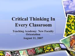 Assessing Progress on the Quality Enhancement Plan Initiative     Critical Thinking Resources September