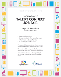 kanata north job fair 5th booths available kanata north bia job fair flyer