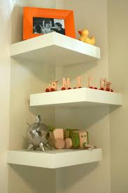 wall shelves uk x: alternating lack square floating corner wall shelves http wwwikeacom