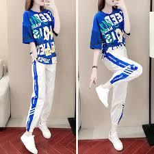 <b>2019 New</b> 2PCS <b>Women</b> Fashion Blue Comfortable <b>Casual</b> Set ...