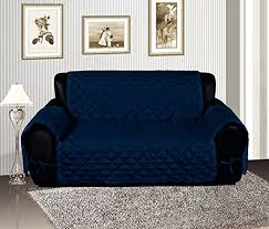 <b>Navy</b> Blue Quilted <b>Micro Suede</b> Pet Dog <b>Furniture Sofa Slipcover</b>