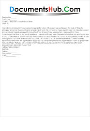 request for experience letter from company documentshub com request for experience letter from employer