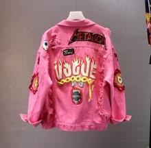 Popular Denim Jacket Women with Graffiti-Buy Cheap Denim Jacket ...