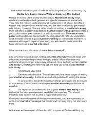 calaméo martial arts essay how to write an essay on this subject