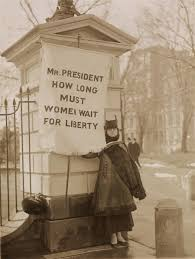 national w s party women suffrage american history summary silent sentinel alison turnbull hopkins at the white house on new jersey day