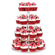 YestBuy Tabletop Clear 4 Tier Acrylic Cupcake Stand ... - Amazon.com