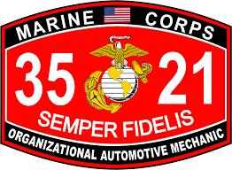 automotive mechanic marine corps mos 3521 usmc military decal organizational automotive mechanic marine corps mos 3521 usmc military decal