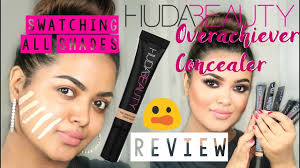 <b>HUDA BEAUTY</b> OVERACHIEVER CONCEALER | SWATCHES ...